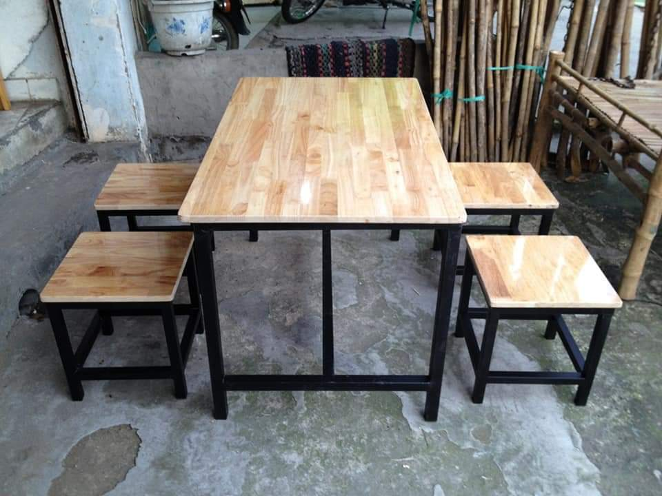 bộ bàn ghế quán ăn.