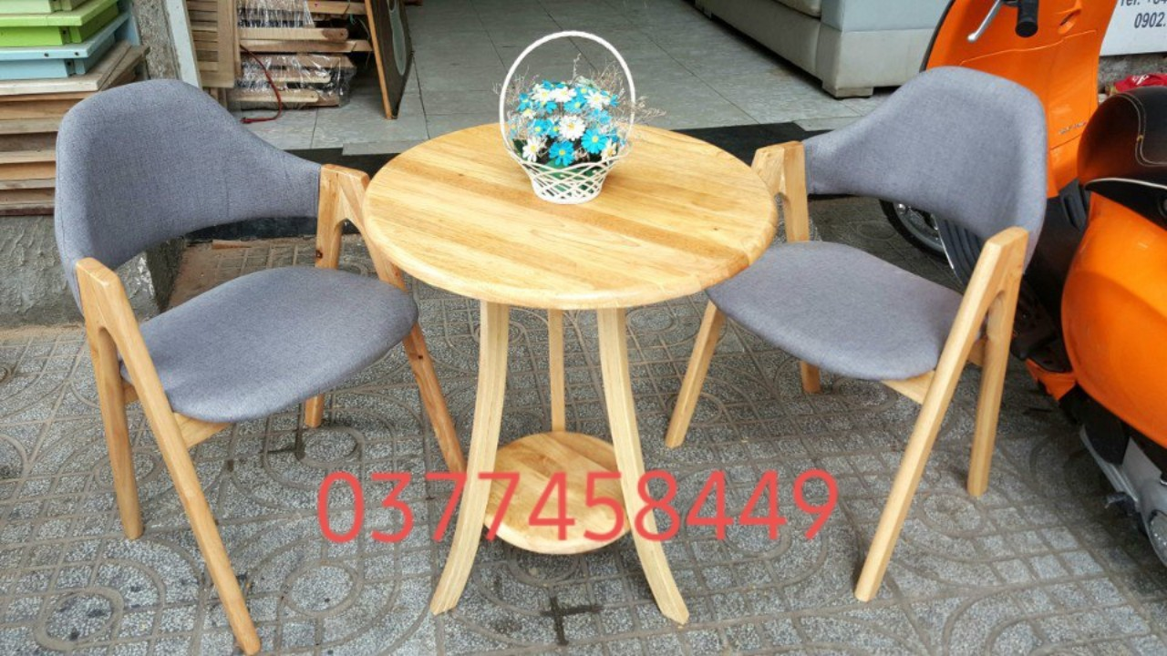 bàn ghế cafe chữ A.